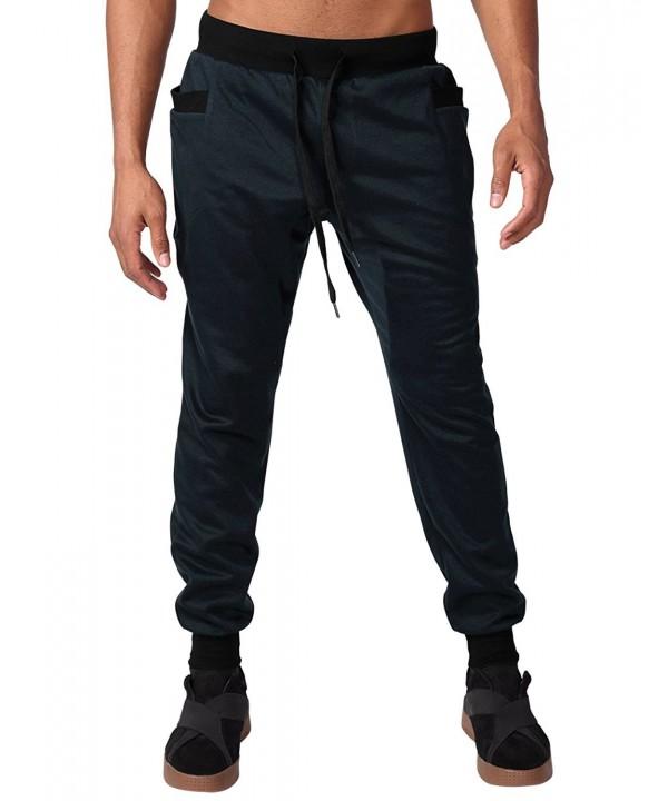 HEMOON Elastic Drawstring Sweatpants Trousers
