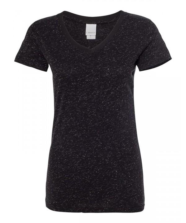 J America Glitter T Shirt 8136 LG Black