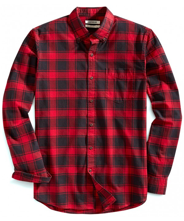 Goodthreads Buffalo Plaid Oxford Chili