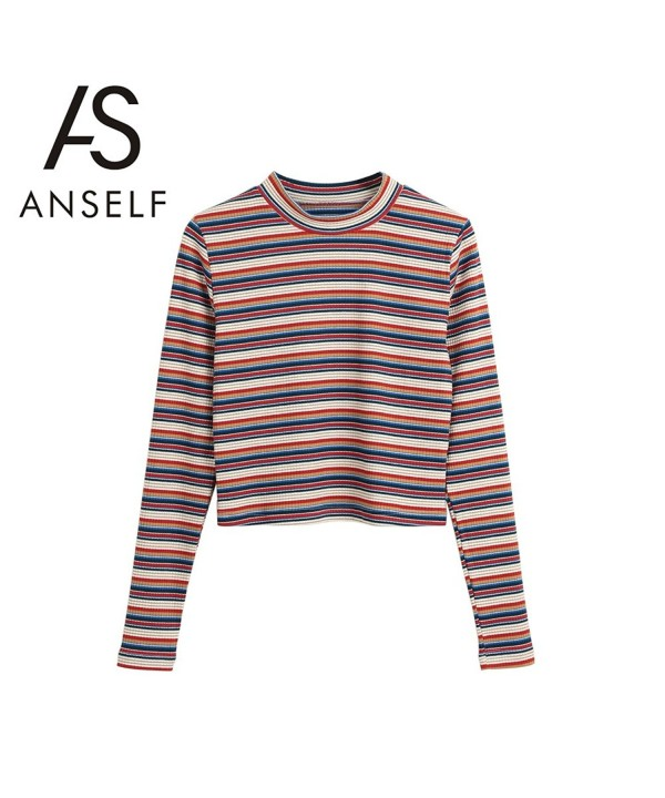 Anself Pullover Sweaters Stretchy Knitting