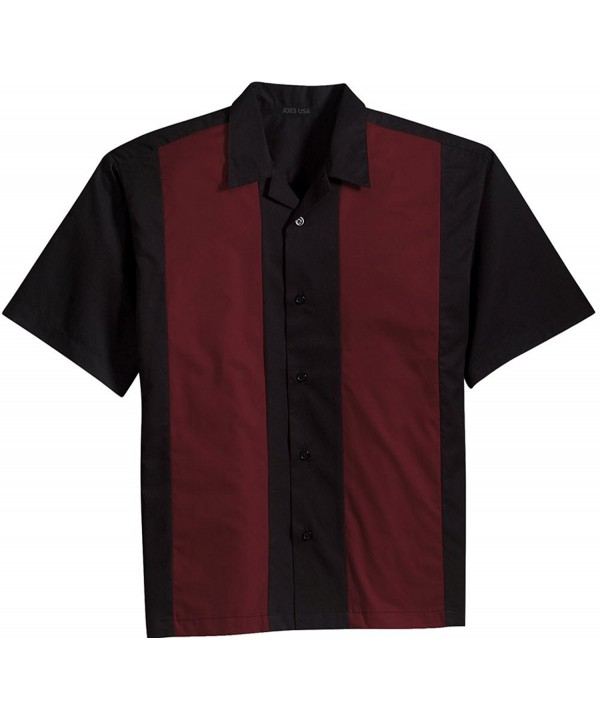 Bowling Shirts Colors Burgundy XXXX Large