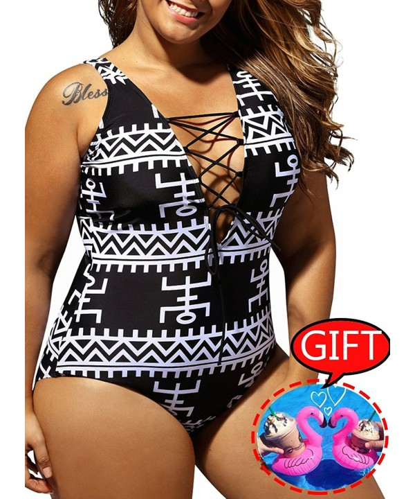 Swimsuit Monokini Printed Control Bathing