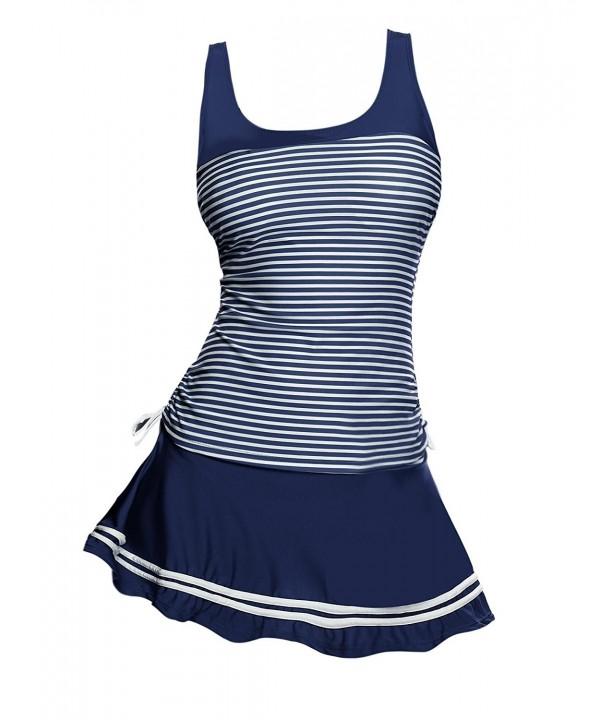Avidlove Womens Striped Tankini Swimsuit