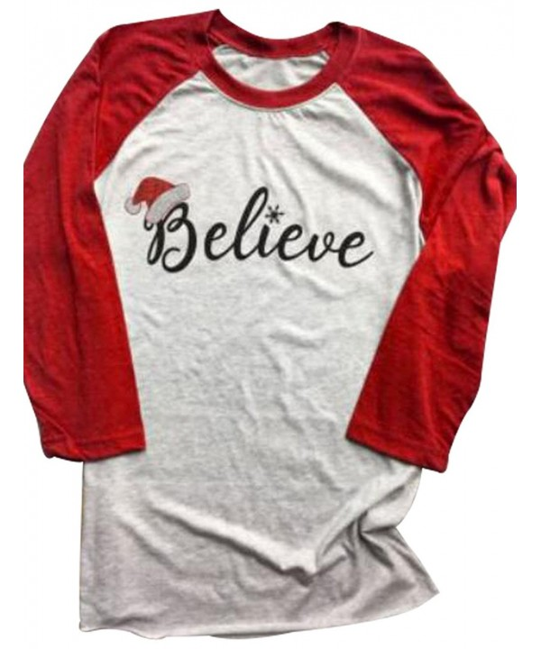 FAYALEQ Christmas Believe Printed Baseball