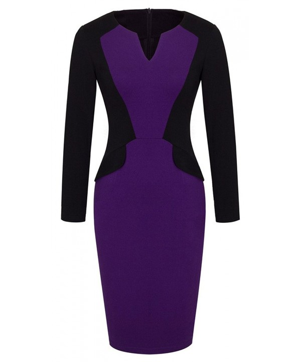 HOMEYEE Womens Elegant Cocktail Bodycon