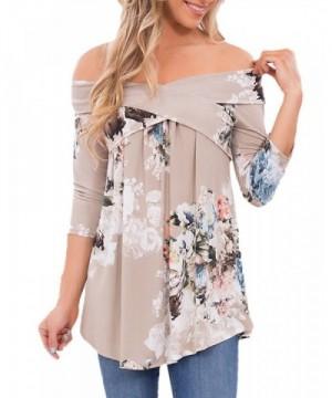 Romacci Womens Casual Shoulder T shirts