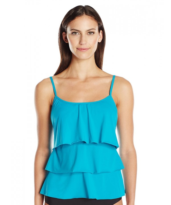 Caribbean Joe Womens Tankini Peacock