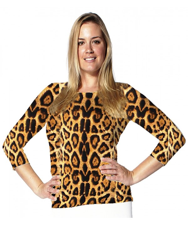 Leopard Print Sleeve Luxxe Medium
