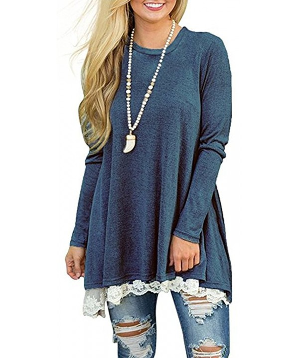 JOELLYUS Loose Tunic Blouse Sleeve