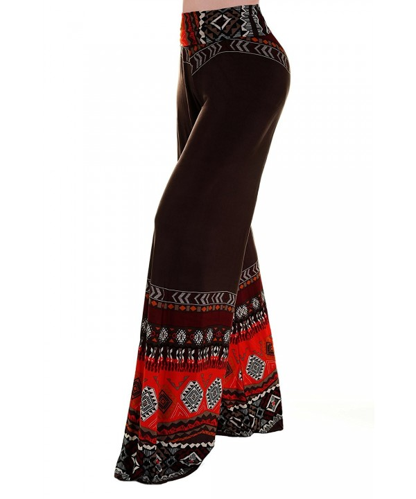 Angeles Womens Fold over Printed Palazzo