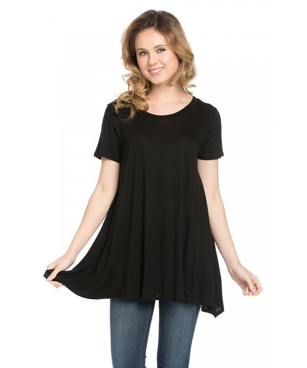 Frumos Womens Leggings Shirts Black