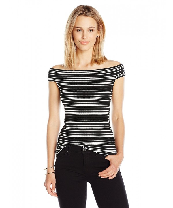 PARIS SUNDAY Womens Shoulder Ribbed