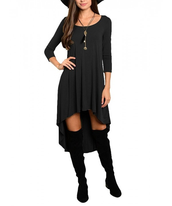 Women Asymmetrical Loose Sleeve Round