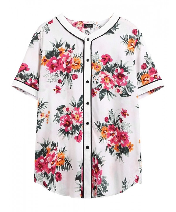 COOFANDY Casual Cotton Fashion Floral