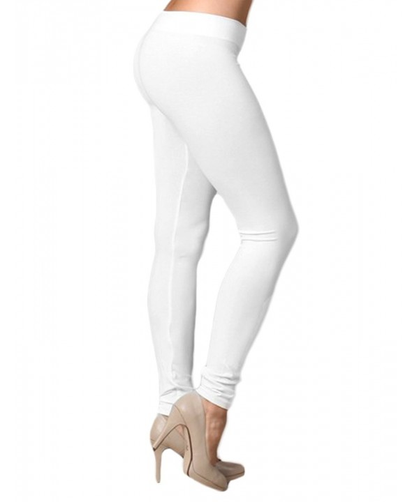 Extra Soft Length Leggings White