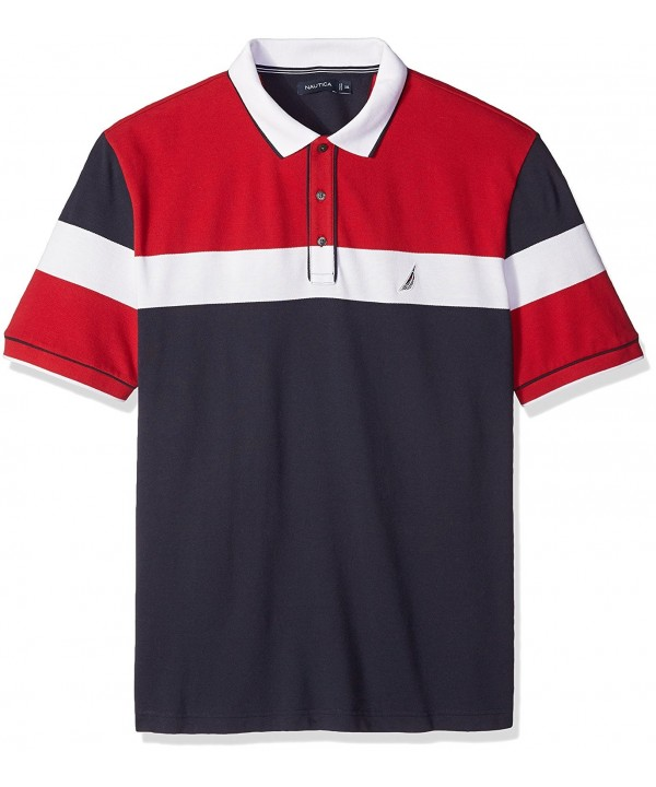 Nautica Short Sleeve Color Block
