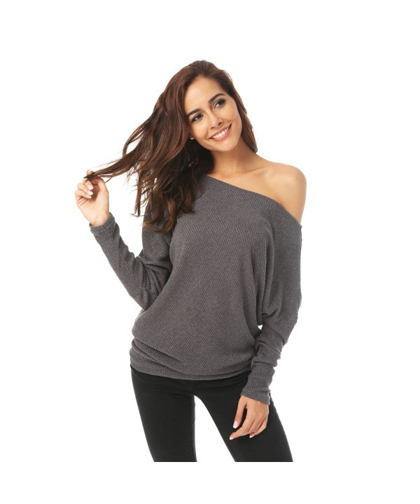 Zumine Womens Shoulder Sweater Pullover