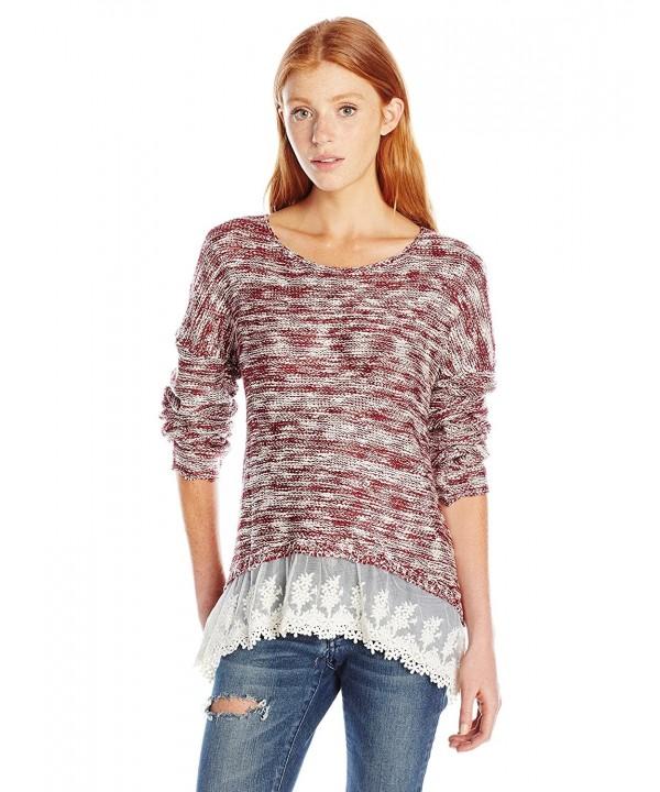 Jolt Womens Hi Low Sleeve Sweater