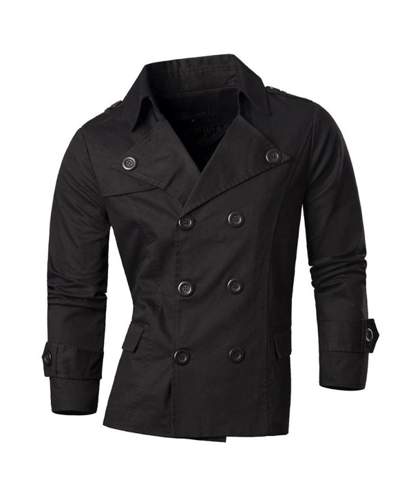 jeansian Fashion Blazer Jacket Black