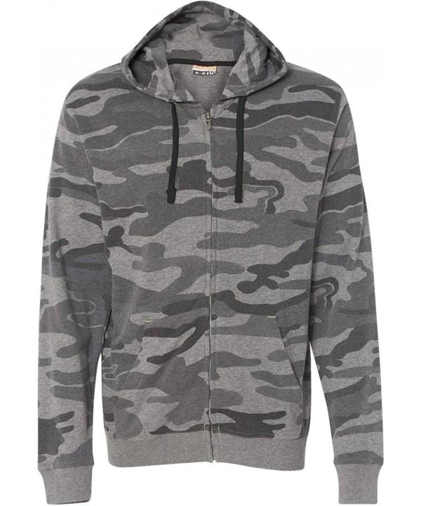 Burnside Camo Full Zip Hooded Sweatshirt B8615