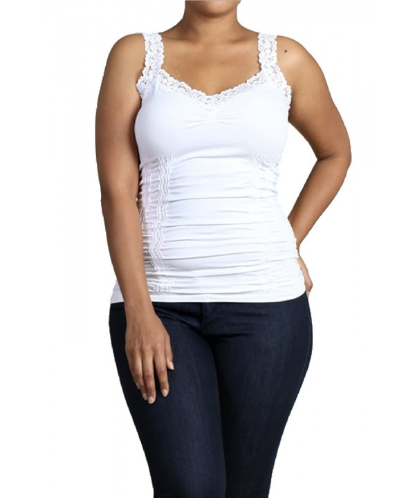 ef89b462df32b ... Fits Most Plus Size - White - C0185QL8C2G. On sale! New. M Rena Womens  Camisole One White
