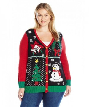Ugly Christmas Sweater Womens Cardigan