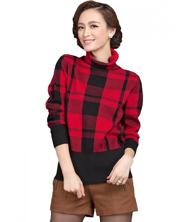 Camii Mia Checkered Pullover Sweater
