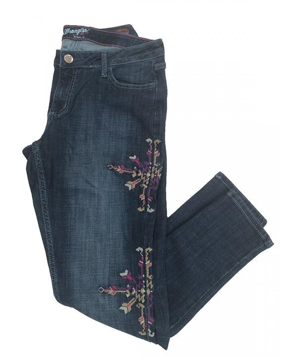 Wrangler Womens Premium Embroidered Skinny