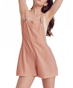 HaoDuoYi Shortall Overall Sleeveless Jumpsuit