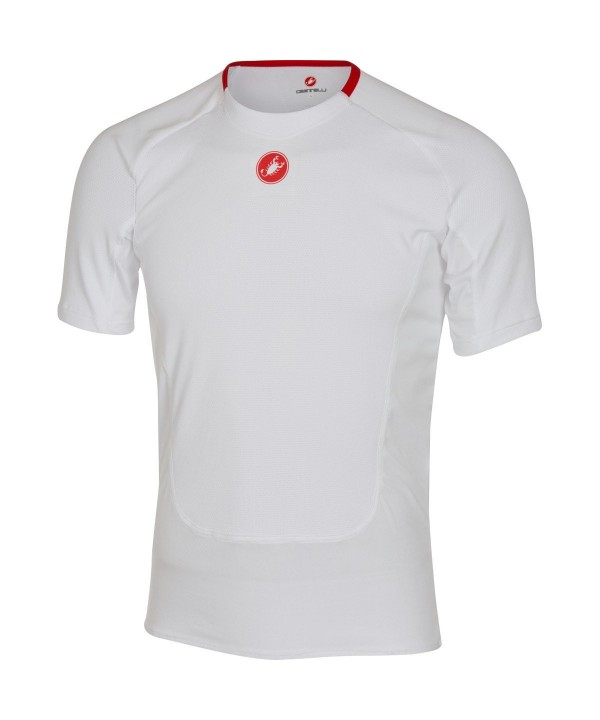 Castelli Prosecco Short Sleeve Baselayer White