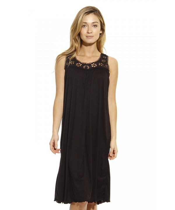 Just Love 1541B Black L Nightgown Sleepwear