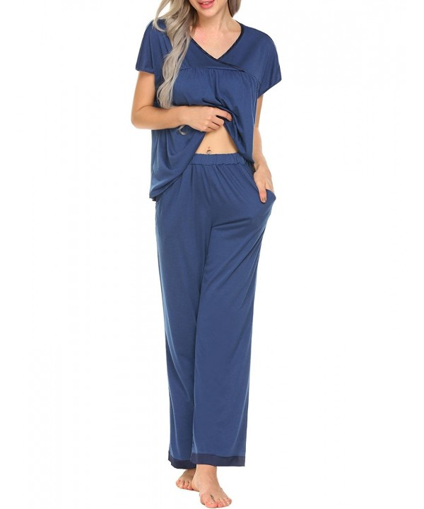 Pajamas Sleeve V Neck Pullover Sleepwear
