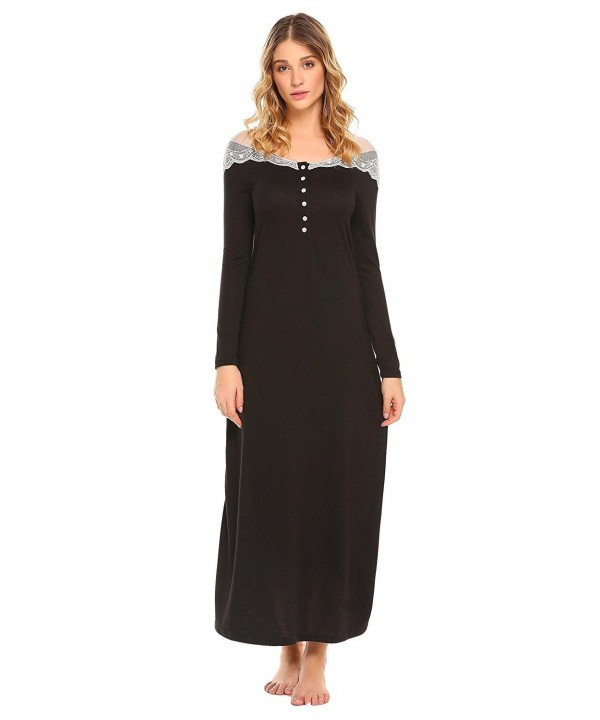 Etuoji Sleeve Nigthgown Casual Sleepwear