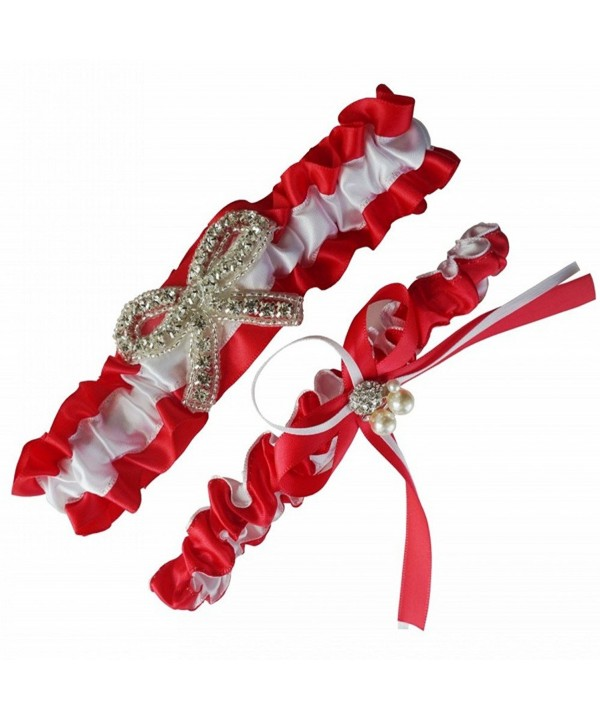 Mirandas Bridal Garters Wedding Crystal