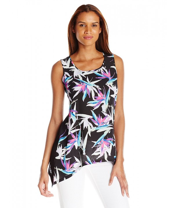 Chaus Sleeveless Paradise Flowers Sharkbite