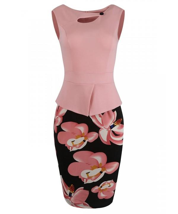 Fantaist Womens Length Floral Button