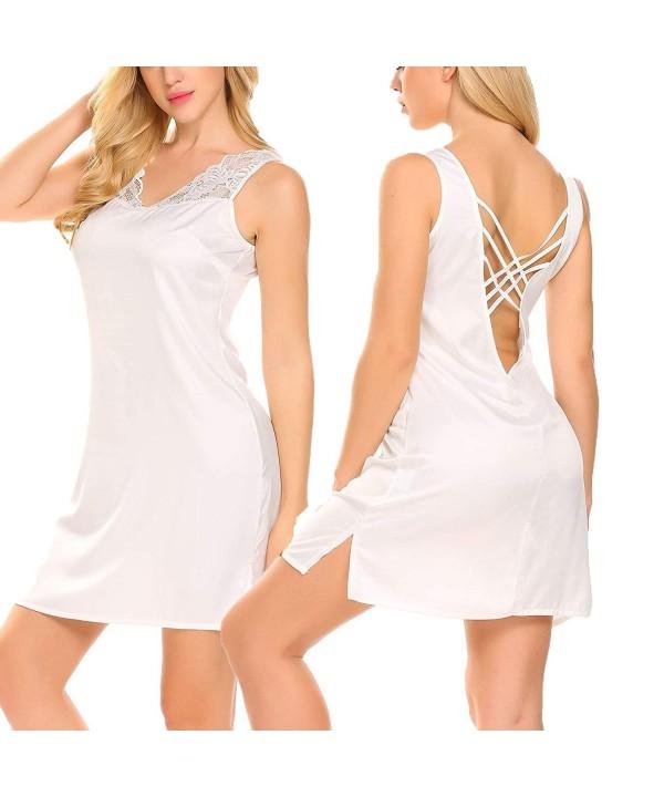 Dorani Silky Nightgown Sleepwear Low Cut