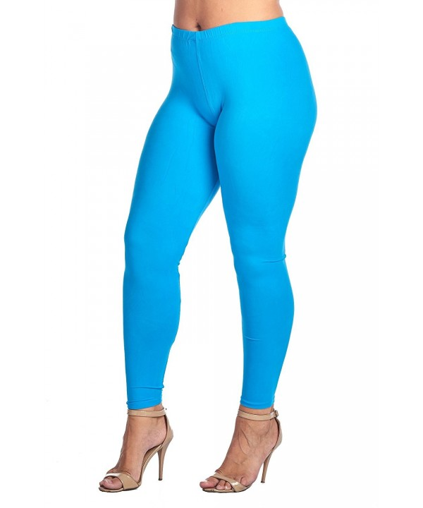 Womens Junior Length Leggings Turquoise