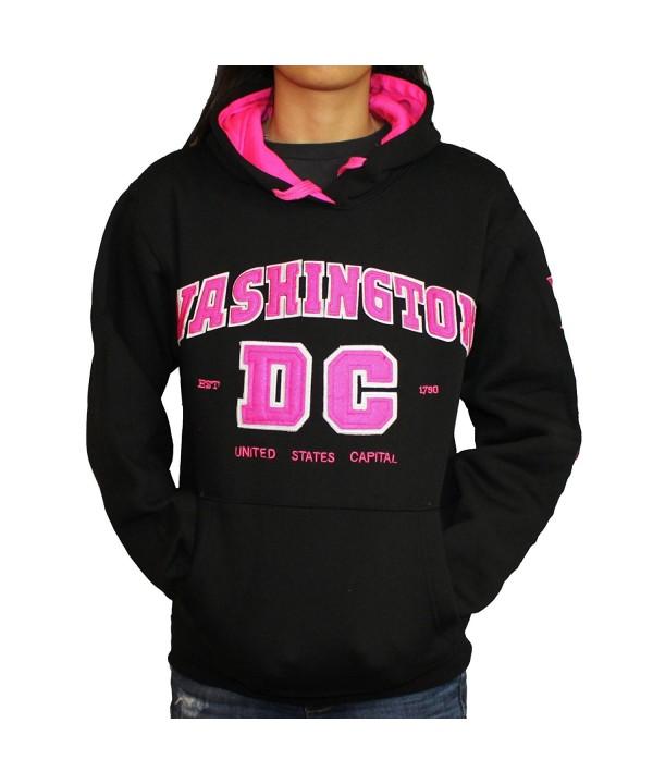 Washington DC Hoodie Letters Non Zip