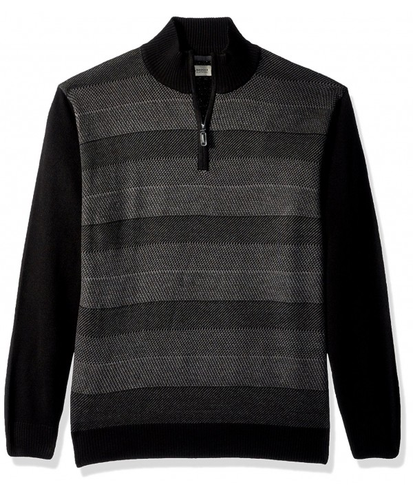 Haggar Acrylic Birdseye Stripe Sweater