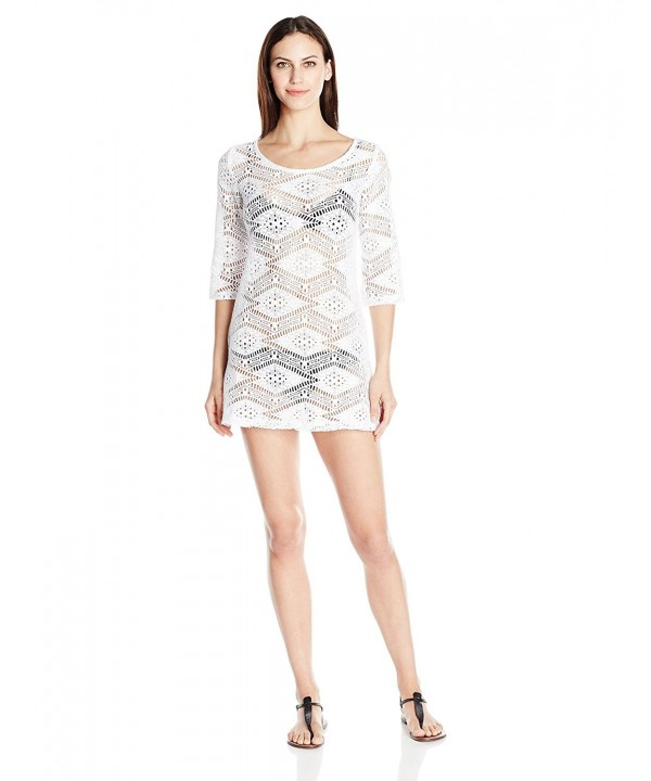 J VALDI Womens Diamond Crochet
