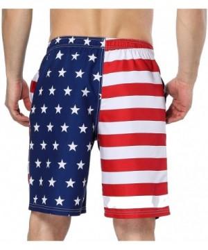 1912c2703a9a6 Men's Swim Trunks USA American Flag Beach Board Shorts - American ...