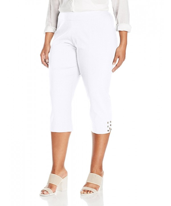 SLIM SATION Womens Pull Capri Grommet