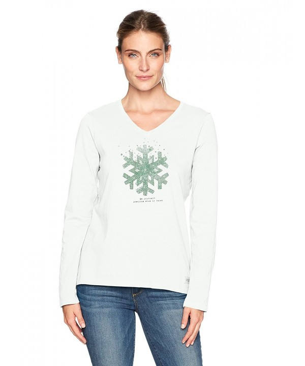 Life Good Crusher Snowflake T Shirt