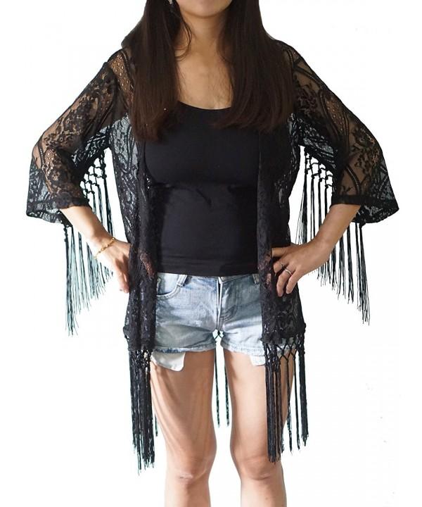 Fashion Rainbow Fringed Kimono Tassels