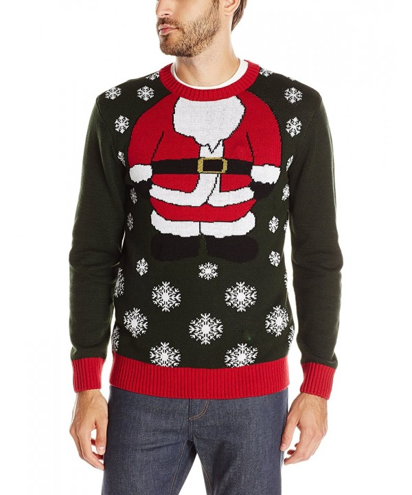 Ugly Christmas Sweater Men.Ugly Christmas Sweater Men S Santa Light Up Evergreen C012lwyb76z