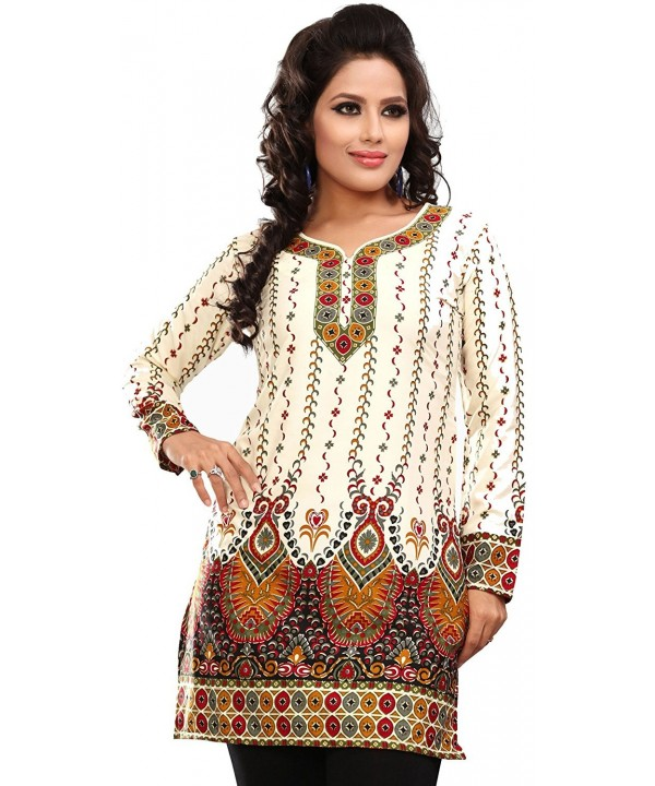 adaed22c831 Indian Tunic Top Womens Kurti Printed Blouse India Clothing - Off ...