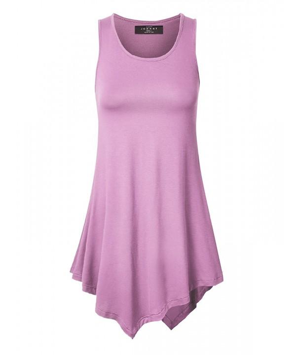 WT671 Womens Handkerchief Tunic LILAC