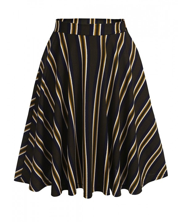 Donkap Digital Stretchy Flared Pleated