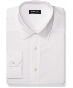Nautica Mens Stripe White 16 5